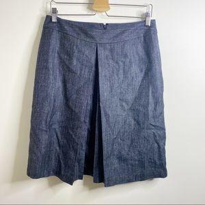 Brooks Brothers Blue Pleated Skirt